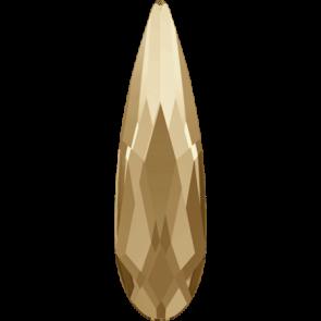 Cristale Swarovski cu spate plat si lipire la cald 2304 Crystal Golden Shadow M HF (001 GSHA) 14 x 3,9 mm