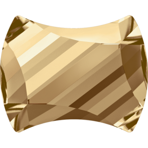 Cristale Swarovski cu spate plat si lipire la cald 2540 Crystal Golden Shadow M HF (001 GSHA) 9 x 7 mm