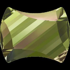 Cristale Swarovski cu spate plat si lipire la cald 2540 Crystal Luminous Green M HF (001 LUMG) 9 x 7 mm