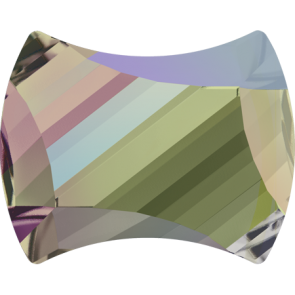 Cristale Swarovski cu spate plat No Hotfix 2540 Crystal Paradise Shine F (001 PARSH) 9 x 7 mm