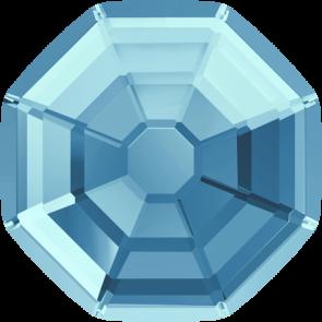 Cristale Swarovski cu spate plat si lipire la cald 2611 Aquamarine M HF (202) 10 mm