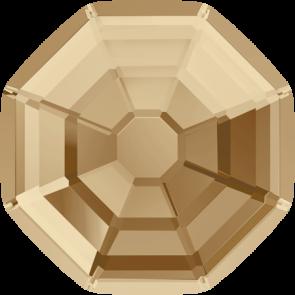 Cristale Swarovski cu spate plat si lipire la cald 2611 Crystal Golden Shadow M HF (001 GSHA) 14 mm