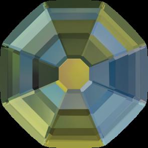 Cristale Swarovski cu spate plat si lipire la cald 2611 Crystal Iridescent Green M HF (001 IRIG) 10 mm
