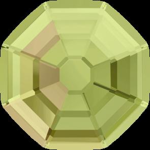 Cristale Swarovski cu spate plat No Hotfix 2611 Crystal Luminous Green F (001 LUMG) 14 mm