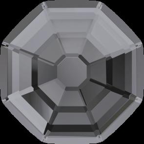 Cristale Swarovski cu spate plat si lipire la cald 2611 Crystal Silver Night M HF (001 SINI) 8 mm