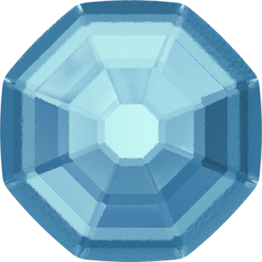Cristale Swarovski cu spate plat si lipire la cald 2611/G Aquamarine M HF (202) 14 mm