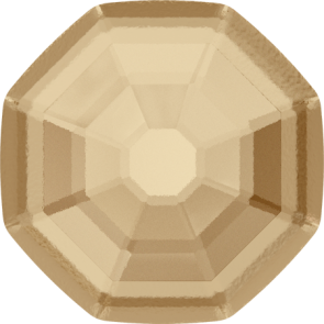 Cristale Swarovski cu spate plat No Hotfix 2611-G  Crystal Golden Shadow F (001 GSHA) 8 mm