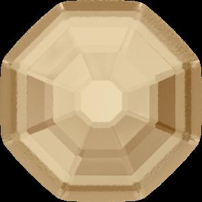 Cristale Swarovski cu spate plat No Hotfix 2611-G  Crystal Golden Shadow F (001 GSHA) 10 mm