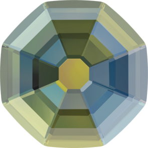 Cristale Swarovski cu spate plat No Hotfix 2611-G  Crystal Iridescent Green F (001 IRIG) 10 mm