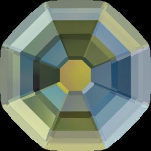 Cristale Swarovski cu spate plat si lipire la cald 2611/G Crystal Iridescent Green M HF (001 IRIG) 10 mm