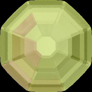 Cristale Swarovski cu spate plat si lipire la cald 2611/G Crystal Luminous Green M HF (001 LUMG) 14 mm