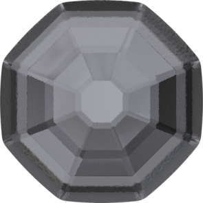 Cristale Swarovski cu spate plat No Hotfix 2611-G  Crystal Silver Night F (001 SINI) 8 mm