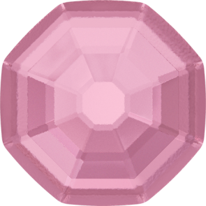 Cristale Swarovski cu spate plat si lipire la cald 2611/G Light Rose M HF (223) 10 mm