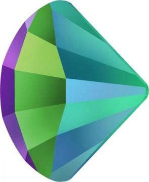 Cristale Swarovski cu spate plat No Hotfix 2714 Crystal Scarabaeus Green F (001 SCGR) 10 mm