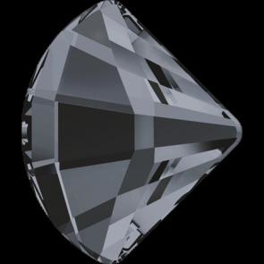 Cristale Swarovski cu spate plat No Hotfix 2714 Crystal Silver Night (001 SINI) 6 mm