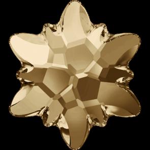 Cristale Swarovski cu spate plat No Hotfix 2753 Crystal Golden Shadow F (001 GSHA) 14 mm