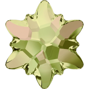 Cristale Swarovski cu spate plat si lipire la cald 2753 Crystal Luminous Green M HF (001 LUMG) 10 mm