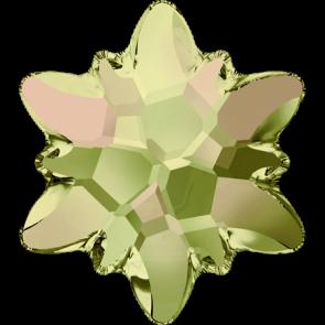 Cristale Swarovski cu spate plat si lipire la cald 2753 Crystal Luminous Green M HF (001 LUMG) 14 mm