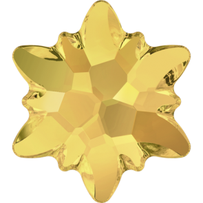 Cristale Swarovski cu spate plat si lipire la cald 2753 Crystal Metallic Sunshine M HF (001 METSH) 10 mm