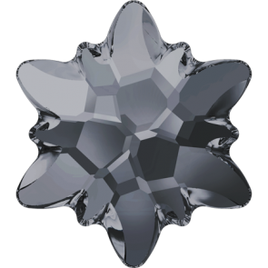 Cristale Swarovski cu spate plat No Hotfix 2753 Crystal Silver Night (001 SINI) 14 mm
