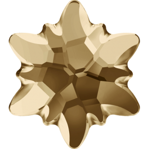 Cristale Swarovski cu spate plat si lipire la cald 2753/G Crystal Golden Shadow M HF (001 GSHA) 14 mm
