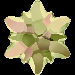 Cristale Swarovski cu spate plat si lipire la cald 2753/G Crystal Luminous Green M HF (001 LUMG) 14 mm