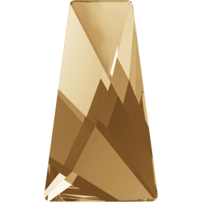Cristale Swarovski cu spate plat si lipire la cald 2770 Crystal Golden Shadow M HF (001 GSHA) 12 x 7 mm