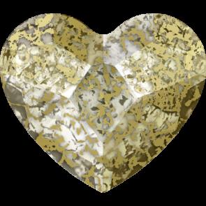 Cristale Swarovski cu spate plat si lipire la cald 2808 Crystal Gold Patina M HF (001 GOLPA) 10 mm