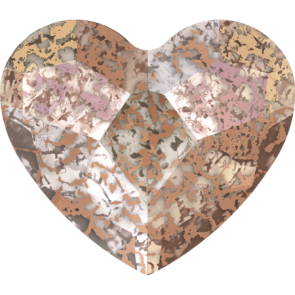 Cristale Swarovski cu spate plat No Hotfix 2808 Crystal Rose Patina F (001 ROSPA) 10 mm