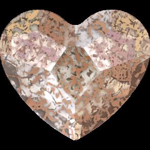 Cristale Swarovski cu spate plat si lipire la cald 2808 Crystal Rose Patina M HF (001 ROSPA) 6 mm
