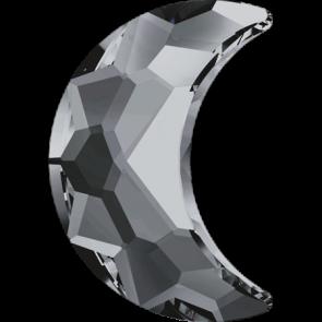 Cristale Swarovski cu spate plat No Hotfix 2813 Crystal Silver Night F (001 SINI) 10 x 7 mm