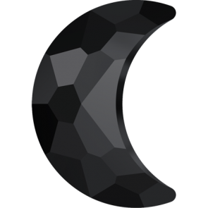 Cristale Swarovski cu spate plat No Hotfix 2813 Jet (280) 10 x 7 mm