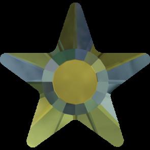 Cristale Swarovski cu spate plat si lipire la cald 2817 Crystal Iridescent Green M HF (001 IRIG) 5 mm