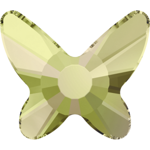 Cristale Swarovski cu spate plat si lipire la cald 2855 Crystal Luminous Green M HF (001 LUMG) 8 mm