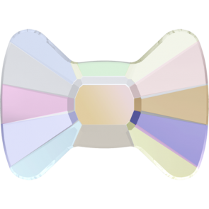Cristale Swarovski cu spate plat si lipire la cald 2858 Crystal AB M HF (001 AB) 9 x 6,5 mm