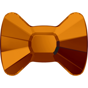 Cristale Swarovski cu spate plat si lipire la cald 2858 Tangerine M HF (259) 6 x 4,5 mm