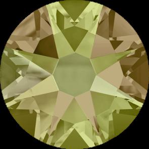Cristale Swarovski cu spate plat No Hotfix 2088 Crystal Luminous Green F (001 LUMG) SS 12