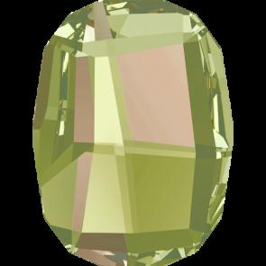 Cristale Swarovski cu spate plat No Hotfix 2585 Crystal Luminous Green F (001 LUMG) 14 mm