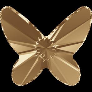Cristale Swarovski cu spate plat No Hotfix 2854 Crystal Golden Shadow F (001 GSHA) 18 mm