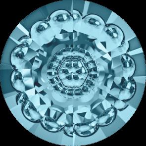 Cristale Swarovski Round Stones 1681 Aquamarine F (202) 12 mm