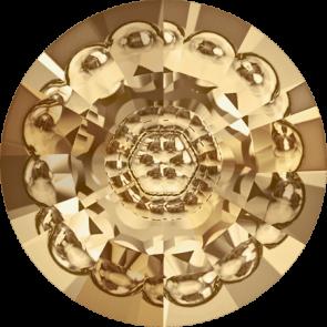Cristale Swarovski Round Stones 1681 Crystal Golden Shadow F (001 GSHA) 12 mm