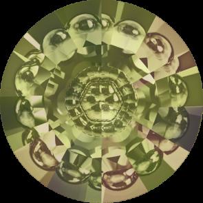 Cristale Swarovski Round Stones 1681 Crystal Luminous Green F (001 LUMG) 16 mm