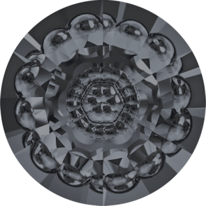 Cristale Swarovski Round Stones 1681 Crystal Silver Night F (001 SINI) 12 mm