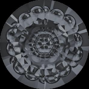 Cristale Swarovski Round Stones 1681 Crystal Silver Night F (001 SINI) 16 mm