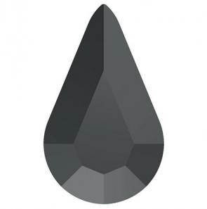 Cristale Swarovski cu spate plat si lipire la cald 2300 Jet Hematite M HF (280 HEM) 8 x 4,8 mm