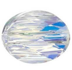 Margele Swarovski 5051 Crystal AB (001 AB) 8 x 6 mm - Mini Oval Bead