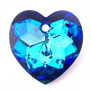 Pandantiv Swarovski 6215 Crystal Bermuda Blue P (001 BB) 18 mm