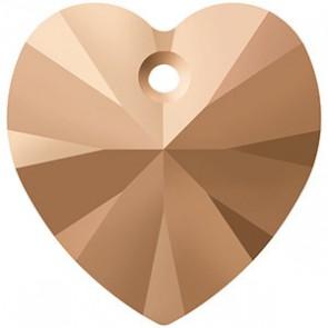 Pandantiv Swarovski 6228 XILION HEART PENDANT Crystal Rose Gold 2x (001 ROGL2) 10,3 x 10 mm