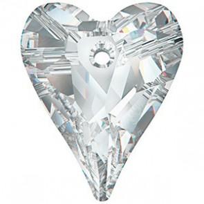 Pandantiv Swarovski 6240 WILD HEART PENDANT Crystal Comet Argent Light V P (001 CAV) 17 mm
