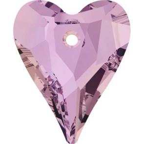 Pandantiv Swarovski 6240 WILD HEART PENDANT Crystal Lilac Shadow (001 LISH) 17 mm